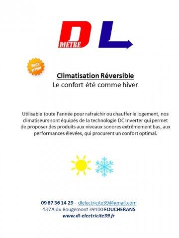 climatisation reversible Dole Jura Fouchrans 39
